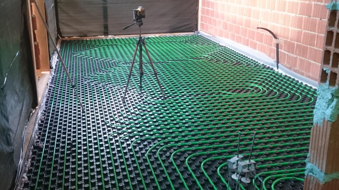 tubos de suelo radiante