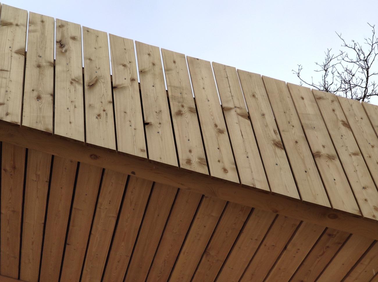madera en fachada