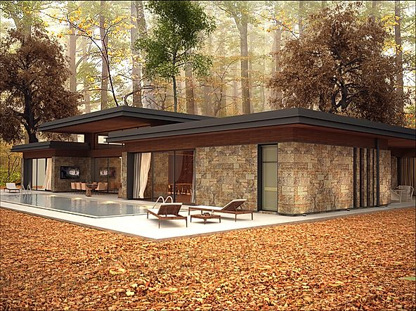 Casa Foresta piscina