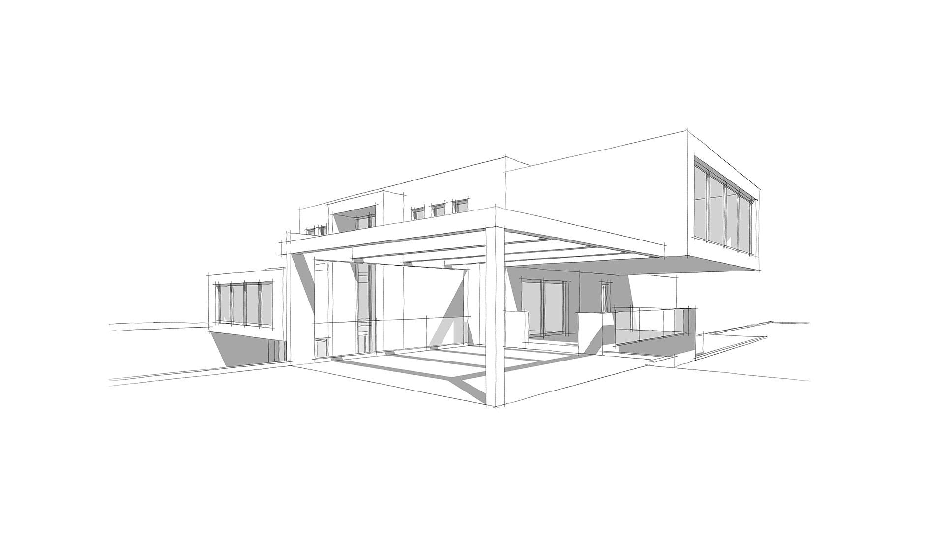 casa minimalista dos plantas
