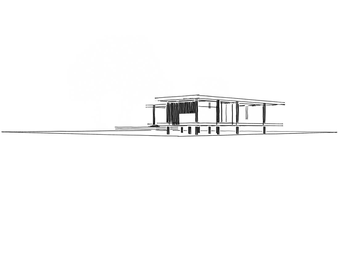 casa pabellón dibujo